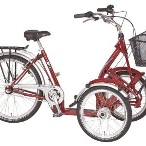 Trehjulet cykel med 2 fronthjul