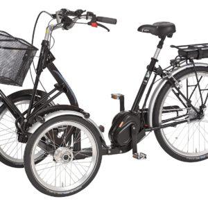 Trehjulet elcykel med 2 fronthjul